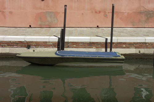 Barque nette mur rose