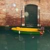 Barque jaune verte