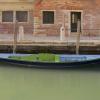 Barque verte et bleue